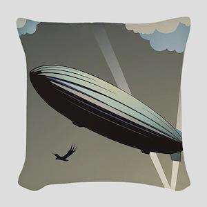 Zeppelin Skyline Woven Throw Pillow