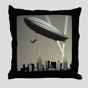 Zeppelin Skyline Throw Pillow