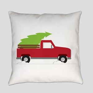 Red Christmas Truck Everyday Pillow