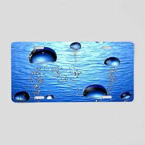 Beautiful Bubbles Aluminum License Plate
