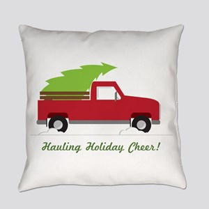 Hauling Holiday Cheer Everyday Pillow