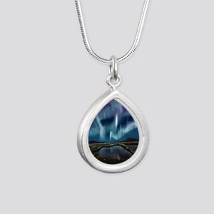 Northern Lights Silver Teardrop Necklace