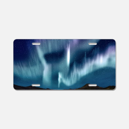 Northern Lights Aluminum License Plate