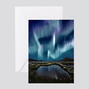 Nature greeting cards cafepress northern lights greeting card m4hsunfo