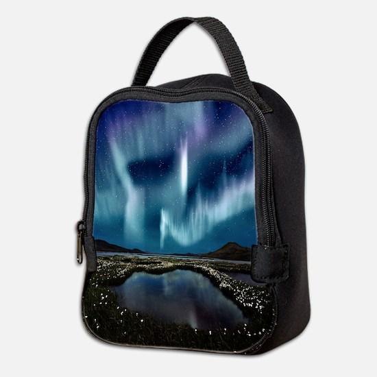 Northern Lights Neoprene Lunch Bag