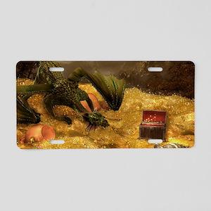 Dragon Treasure Aluminum License Plate