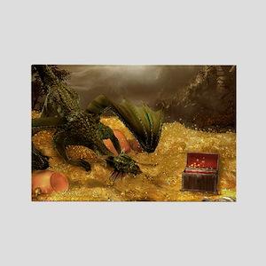Dragon Treasure Rectangle Magnet