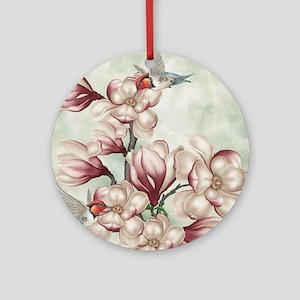 Magnolia Colibries Round Ornament