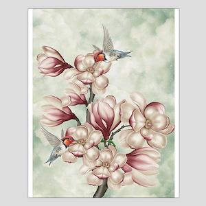 Magnolia Colibries Small Poster