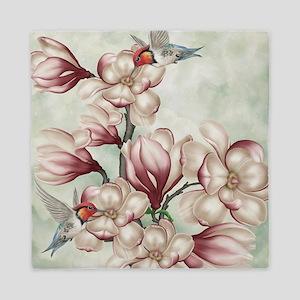 Magnolia Colibries Queen Duvet