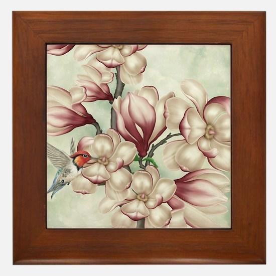 Magnolia Colibries Framed Tile