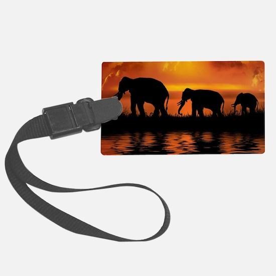 Elephant Safari Luggage Tag