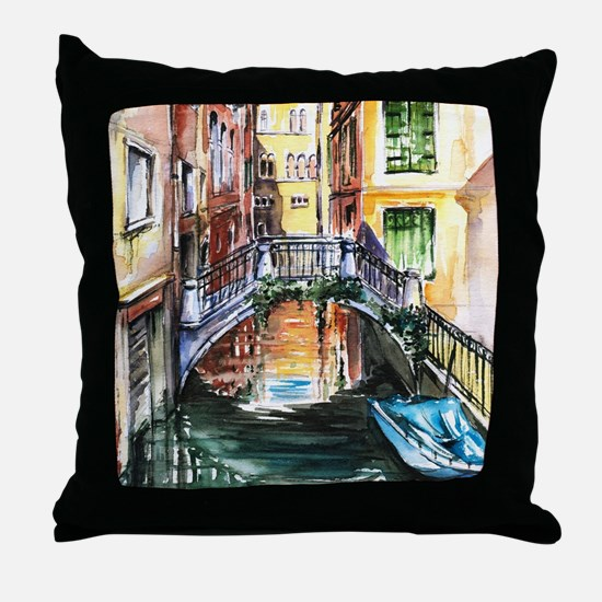 Summer in Venice Throw Pillow
