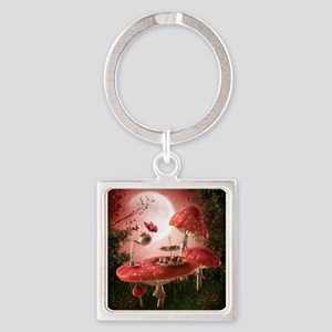 Surreal Tea Party Square Keychain