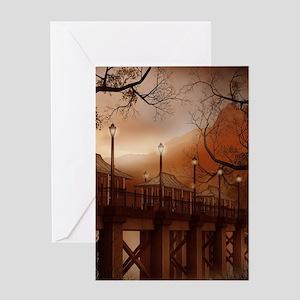 Asian Bridge Greeting Card