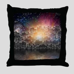 Mega City Throw Pillow