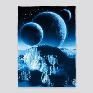 Fantasy Planets 5'x7'Area Rug