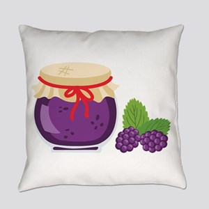 Blackberry Jam Jar Everyday Pillow