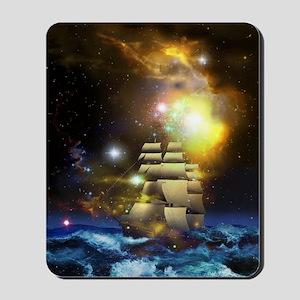 Sail Ship Universe Mousepad