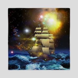 Sail Ship Universe Queen Duvet