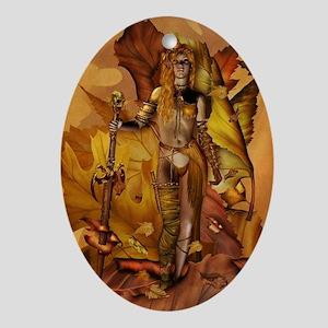 Amazon Warrior Oval Ornament