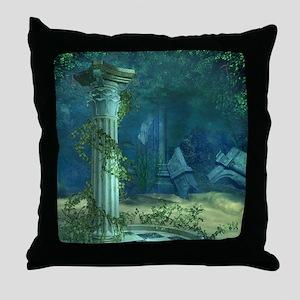 Underwater Ruins Throw Pillow