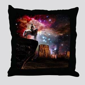Native American Universe Throw Pillow
