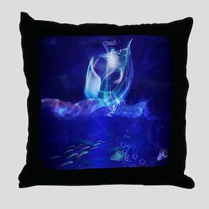 Abstract Ship Throw Pillow