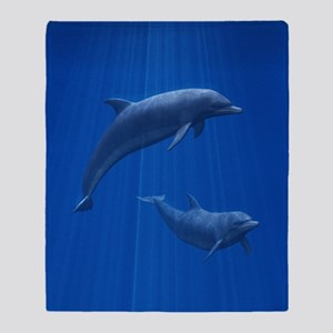 Dolphin Couple Throw Blanket