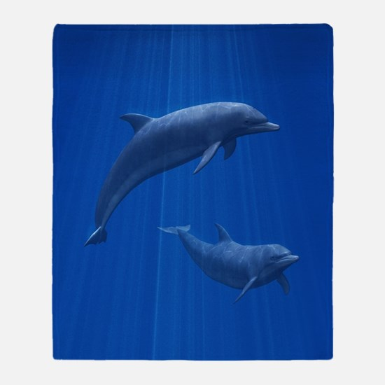 Dolphin Couple Throw Blanket