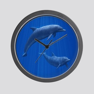 Dolphin Couple Wall Clock