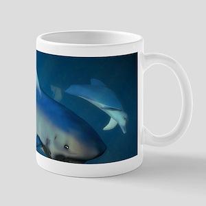 Submarine and Sharks Mug
