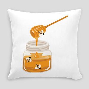 Honey Bees Jar Everyday Pillow
