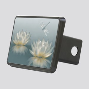Lotus and Dragonfly Rectangular Hitch Cover