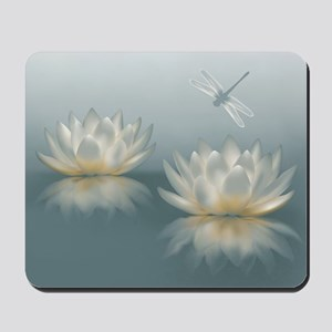 Lotus and Dragonfly Mousepad