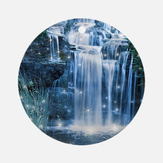 Magic Waterfall Round Ornament