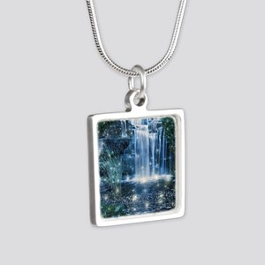 Magic Waterfall Silver Square Necklace