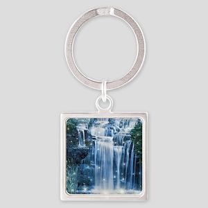 Magic Waterfall Square Keychain