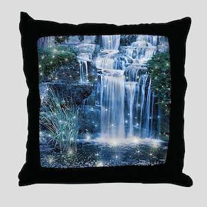 Magic Waterfall Throw Pillow