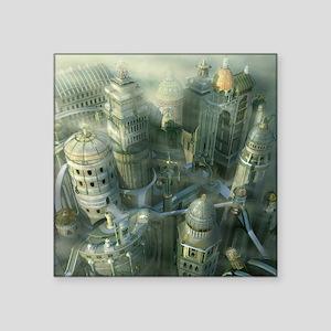 "Ancient Atlantis Square Sticker 3"" x 3"""
