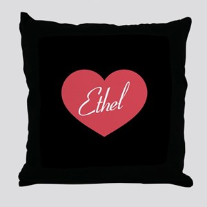 I Love Lucy Ethel Heart Throw Pillow