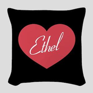 I Love Lucy Ethel Heart Woven Throw Pillow