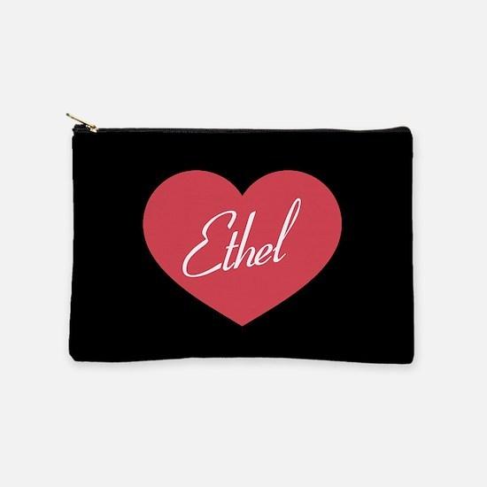 I Love Lucy Ethel Heart Makeup Bag