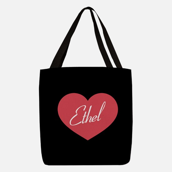 I Love Lucy Ethel Heart Polyester Tote Bag