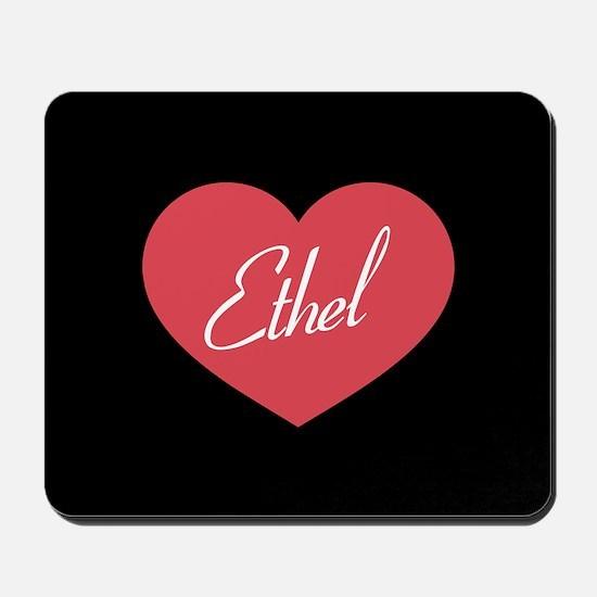 I Love Lucy Ethel Heart Mousepad