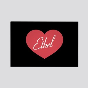 I Love Lucy Ethel Heart Rectangle Magnet