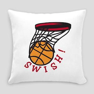 Basketball Swish Everyday Pillow