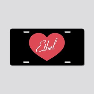 I Love Lucy Ethel Heart Aluminum License Plate