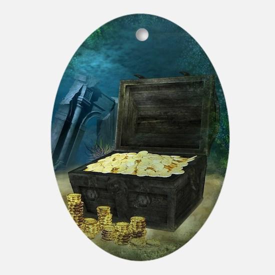 Treasure Chest Oval Ornament