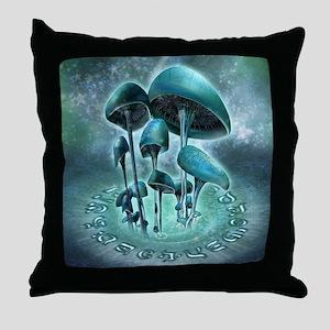 Mystic Mushrooms Throw Pillow